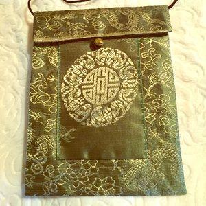 Oriental, elegant evening mini-bag.  See pockets.